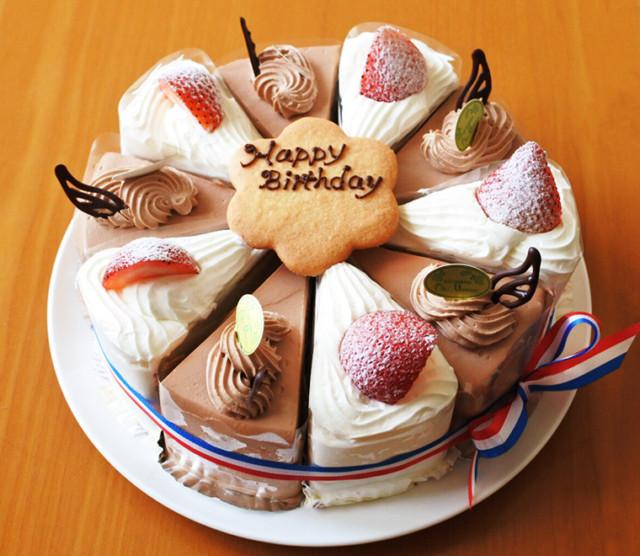 イチゴショート&チョコクリームのカットケーキ