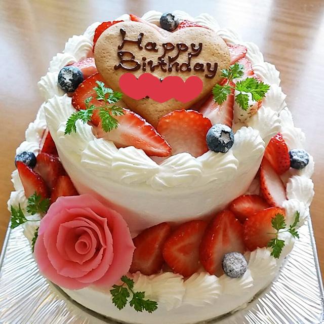 2段デコレーションケーキ