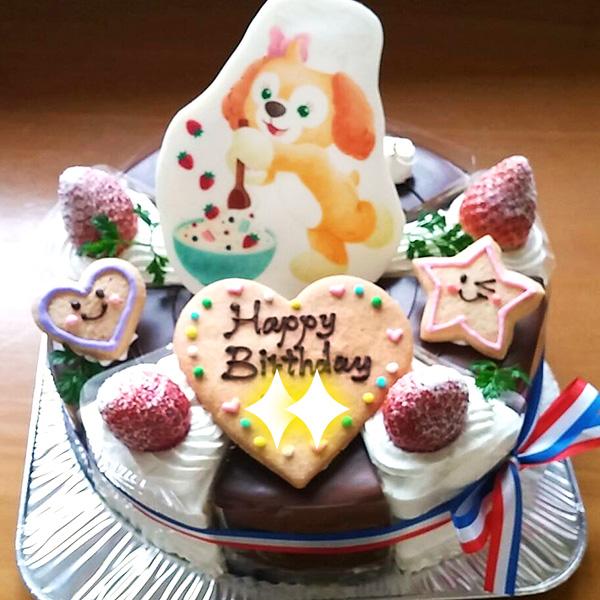キャラクターデコレーション イチゴショート&ショコラのカットケーキ