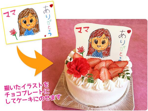 母の日似顔絵ケーキ