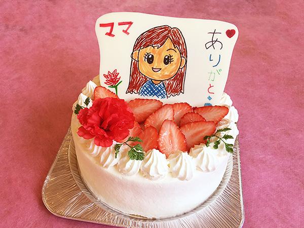 色ペンver 母の日似顔絵ケーキ
