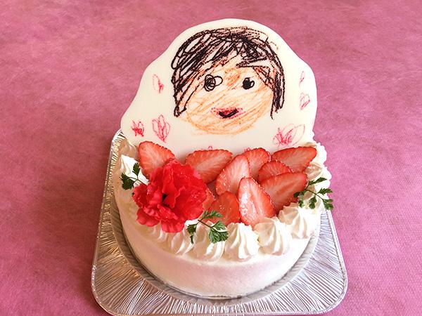 クレヨンver 母の日似顔絵ケーキ