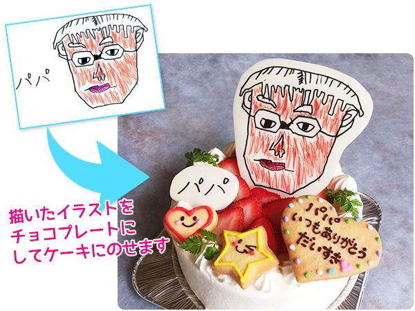 父の日似顔絵ケーキ