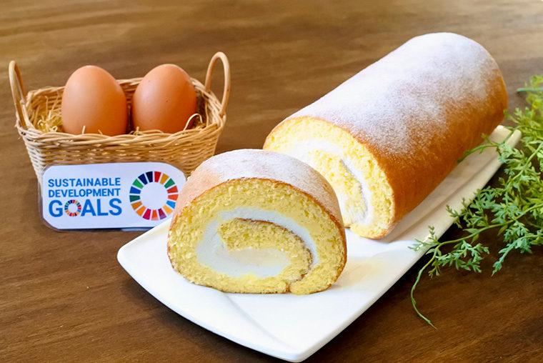 平飼い卵の純生ロールケーキ